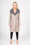 Wool Blend Coat with Oversized Hood