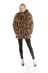 Reversible Faux Fur Printed Coat