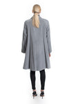 100% Cashmere Swing Coat - Grey