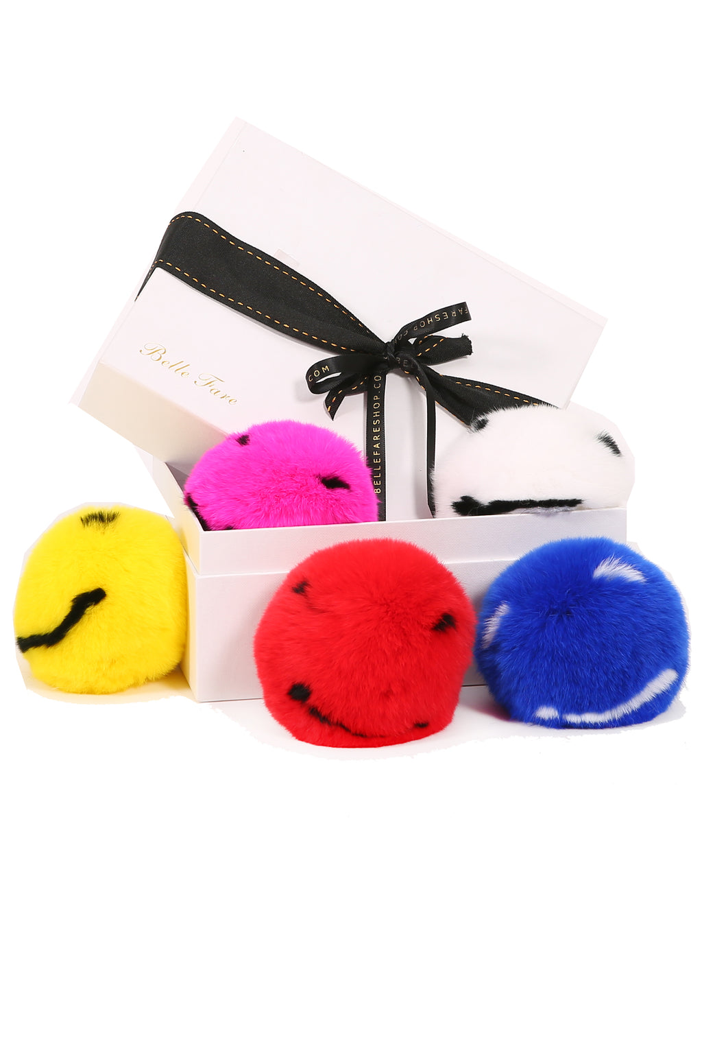 [Special] Large Rex Smiley Fur Charm Collection (5 pieces)