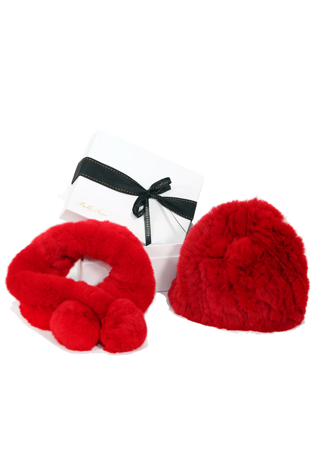 [Special] Neck Warmer and Beanie Hat - Red
