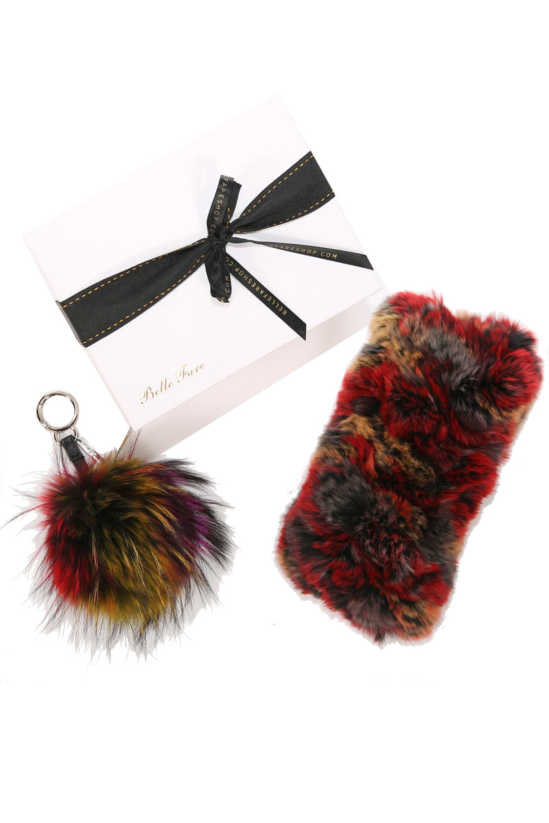 [Special] Rex Headband and Raccoon Pom Pom (Red Multi)