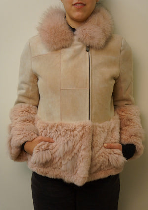 Pink Shearling Coat