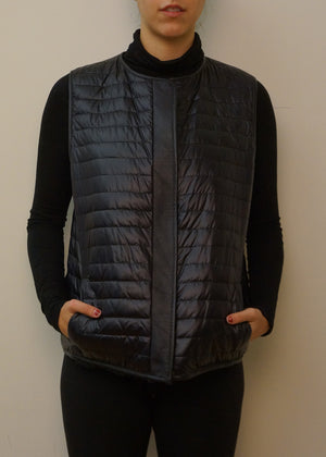 Reversible Mink and Microfabric Vest