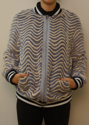 Reversible Rex Rabbit Baseball Jacket
