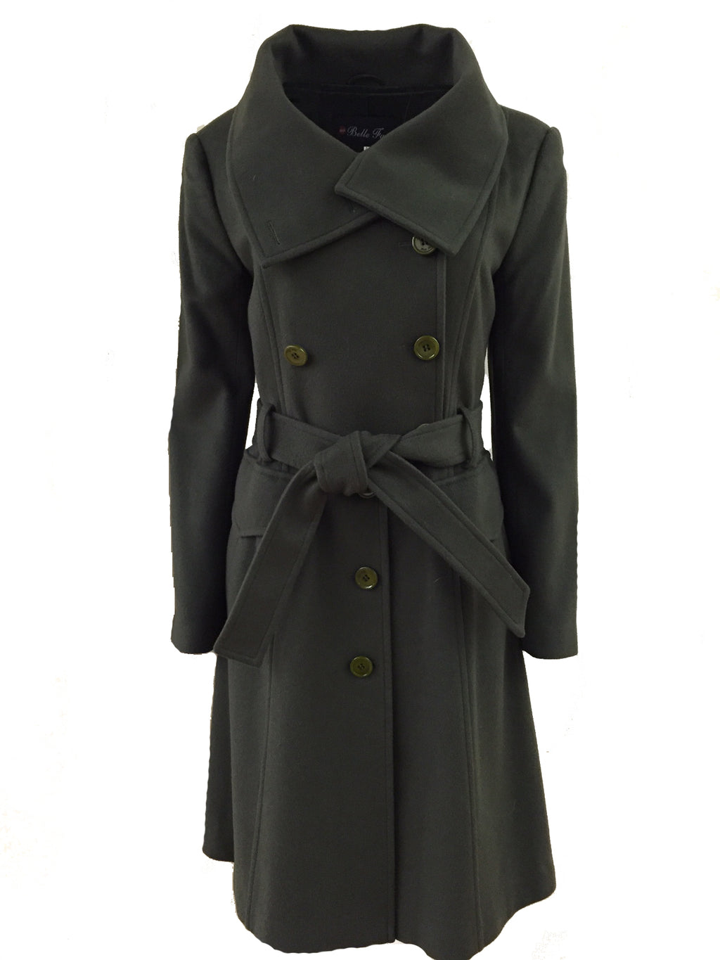 "31"" 100% Cashmere Military Style Coat - Size Medium"