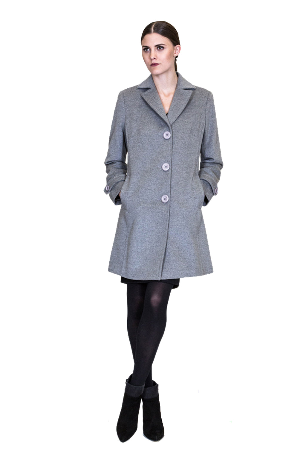 100% Cashmere Coat - Size Medium
