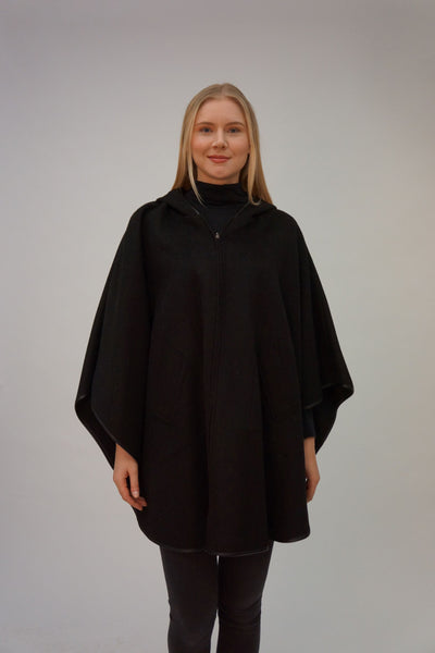 100% Cashmere Hooded Cape