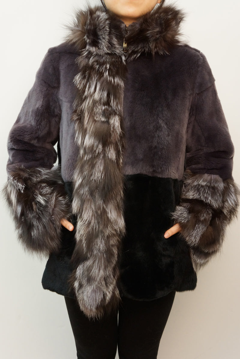 Rex Rabbit and Silver Fox Coat