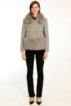 Wool Coat with Faux Fur Collar and Hem