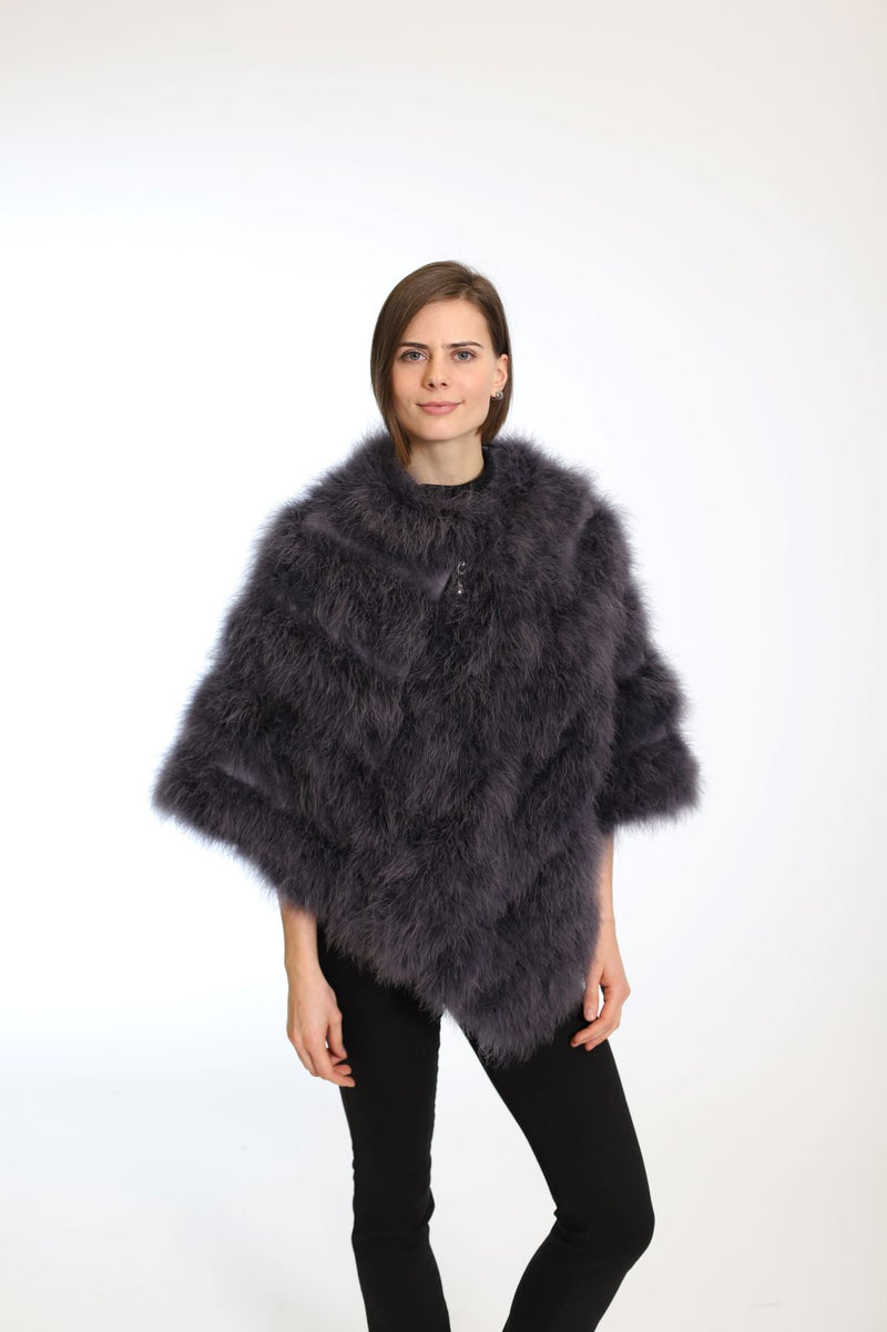Feather poncho