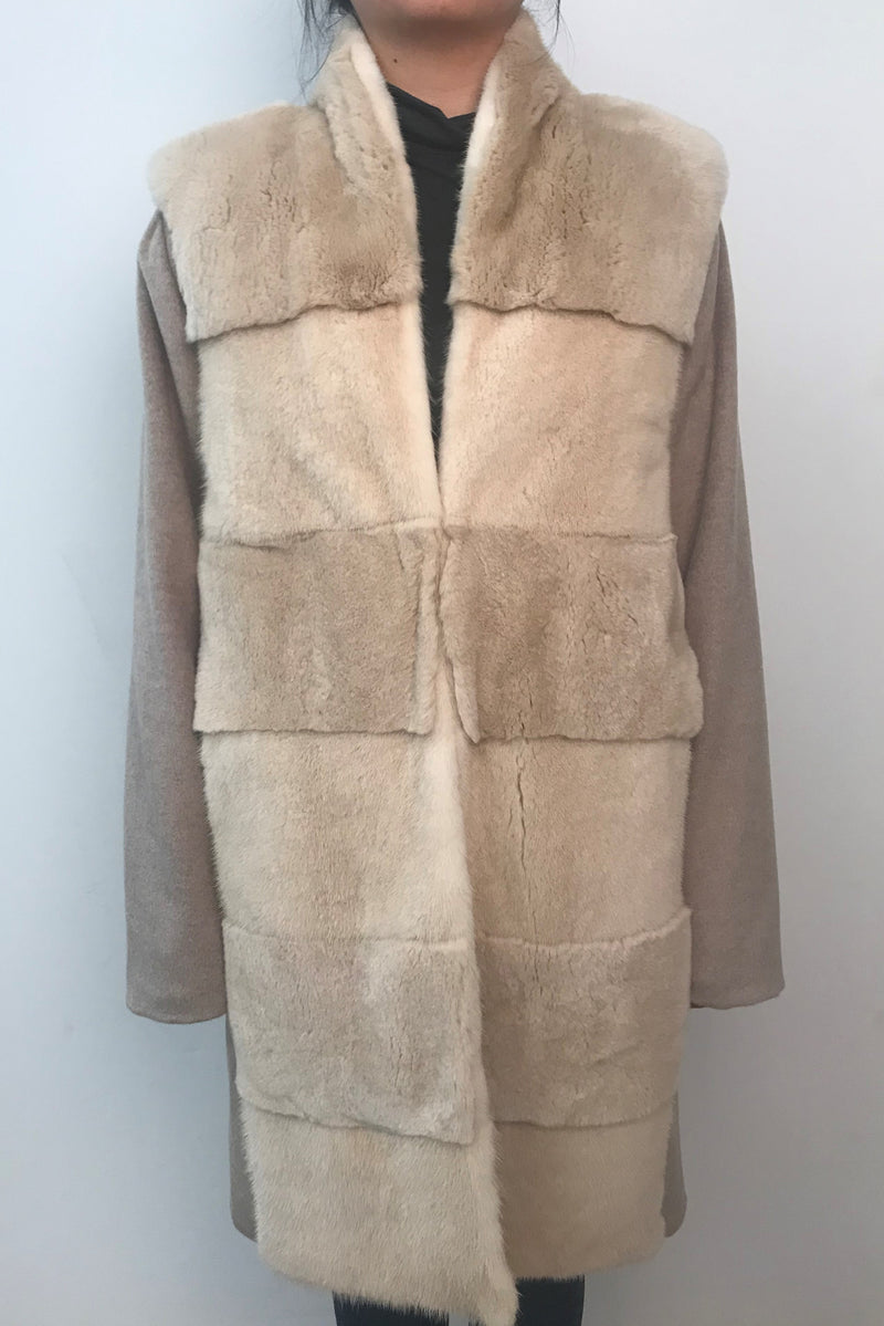3-in-1 Mink and Rex Rabbit Coat