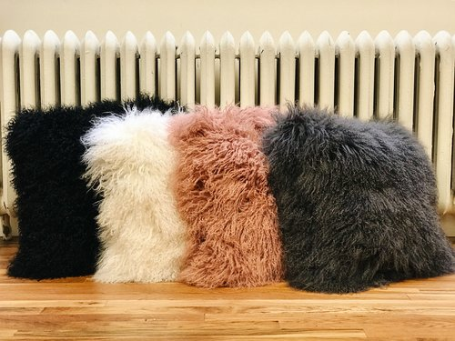 Home Collection - Mongolian Fur Pillow with Insert