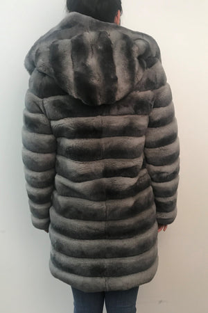 Reversible Rex Rabbit Microfabric Coat