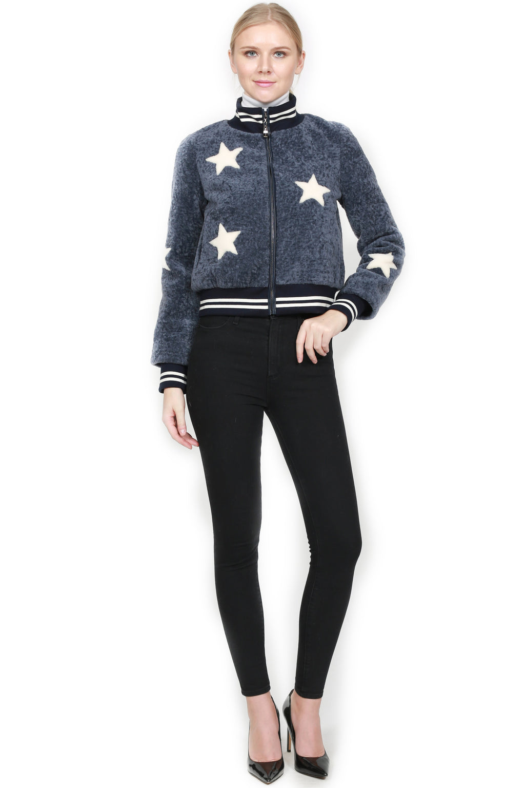 Star Baseball Sheepskin Jacket
