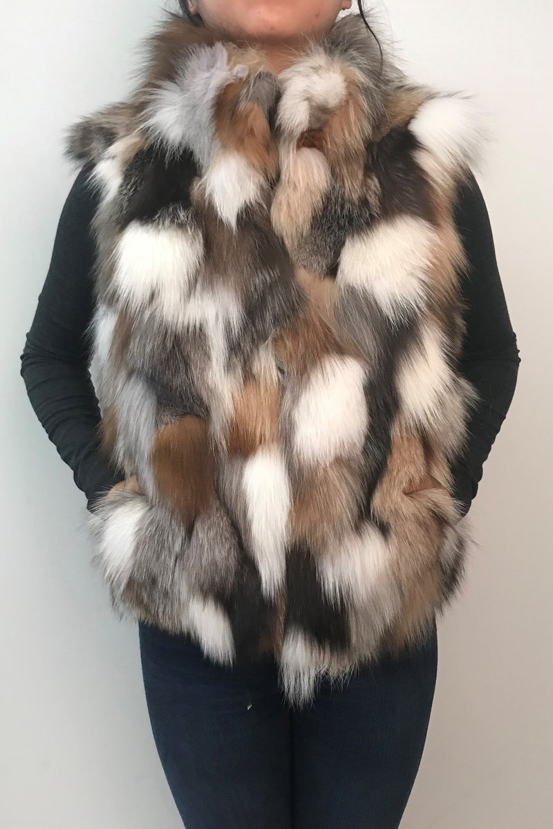 Multicolor Fox Vest