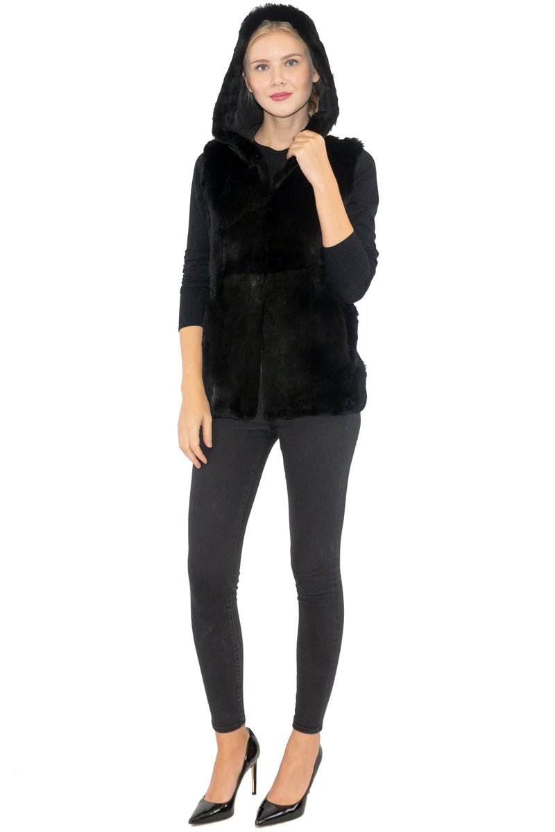 Rex Rabbit Hooded Vest