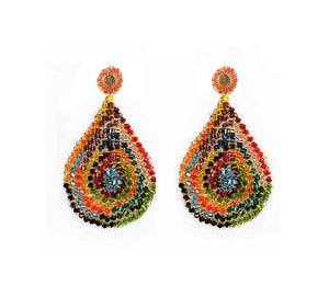 Multicolor Hand Crochet Tear Drop