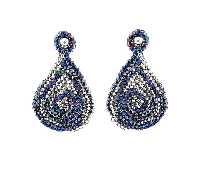 Navy Hand Crochet Tear Drop