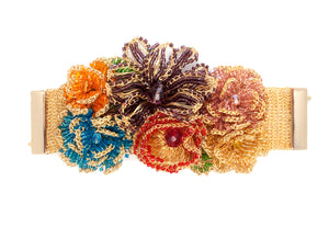 Multicolor Flower Cuff