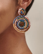 Load image into Gallery viewer, Caramel Hand Crochet Mandala Earrings