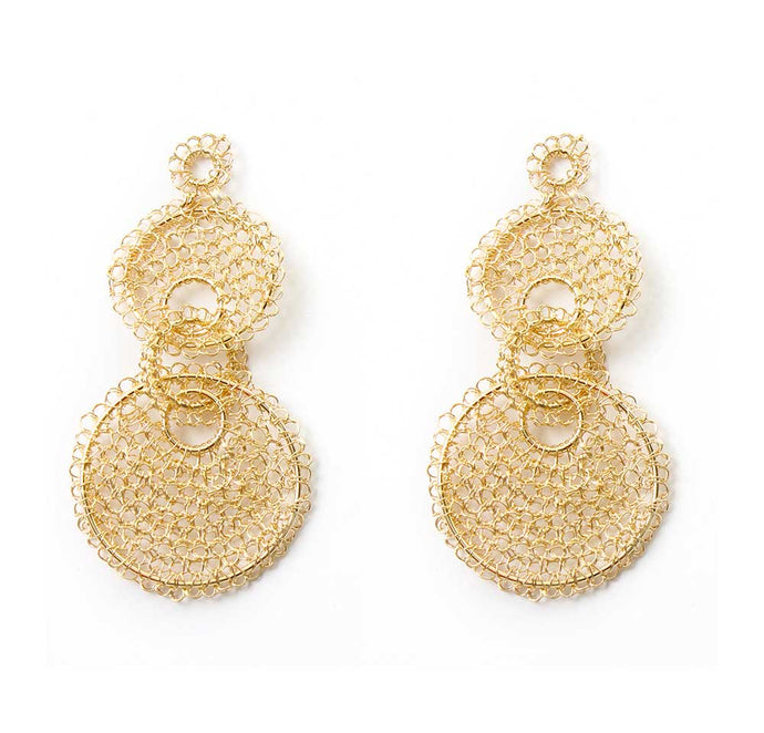 Gold Favorite Crochet Earring
