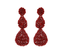 Load image into Gallery viewer, Red Velvet Crochet Double Tear Drop