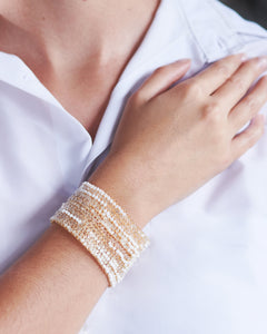 White Crochet Signature Cuff
