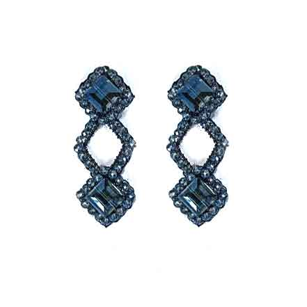 Asymmetrical Freya Sapphire Earrings