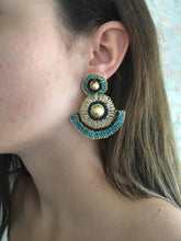 Load image into Gallery viewer, Fan Hand-Made Crochet Earrings