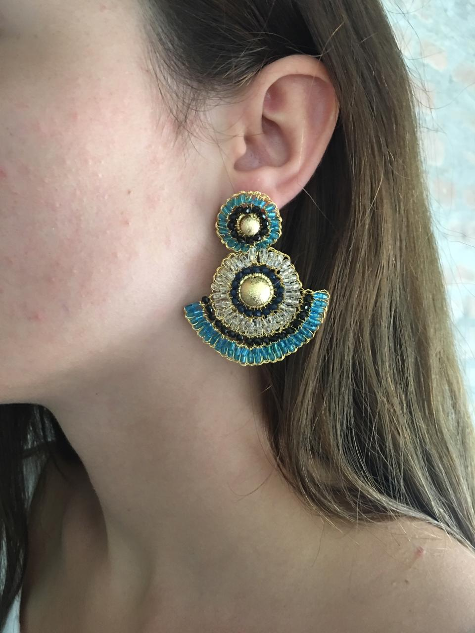 Fan Hand-Made Crochet Earrings