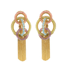 Load image into Gallery viewer, Pastel Shoulder Duster Pastel Chandelier Earrings