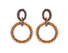 Load image into Gallery viewer, Caramel Crochet Multi Links Earrings