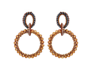 Caramel Crochet Multi Links Earrings