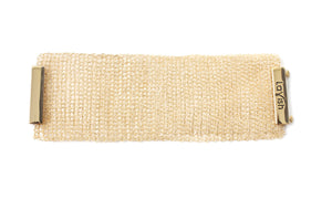Gold Large Hand Crochet Cuff