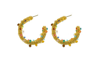 Large Multicolor Coral Hoops