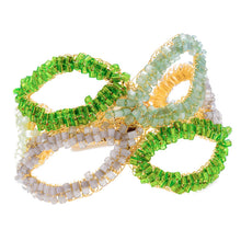 Load image into Gallery viewer, Corola Hand Crochet Green Bracelet