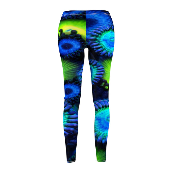 Blue and Green Zoanthid Garden Women's Casual Leggings
