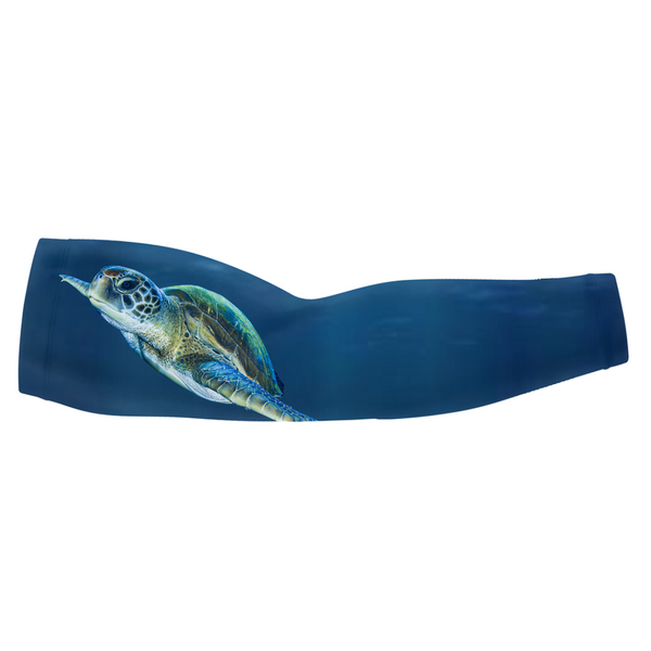 Majestic Swimming Turtle Arm Sleeve