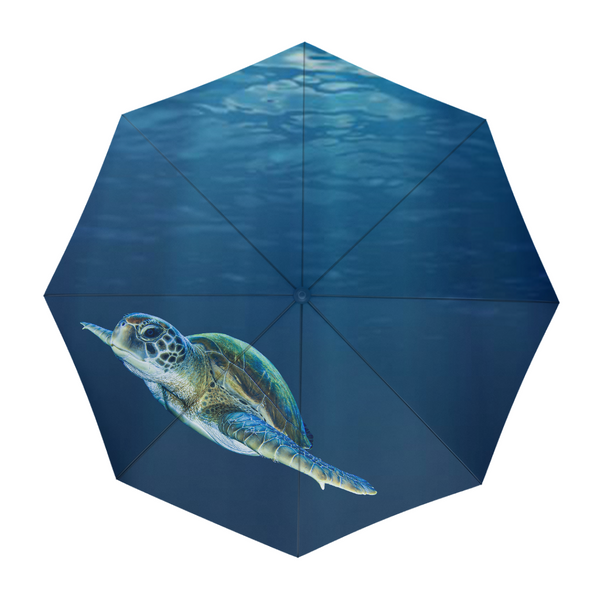 Majestic Swimming Turtle Umbrella