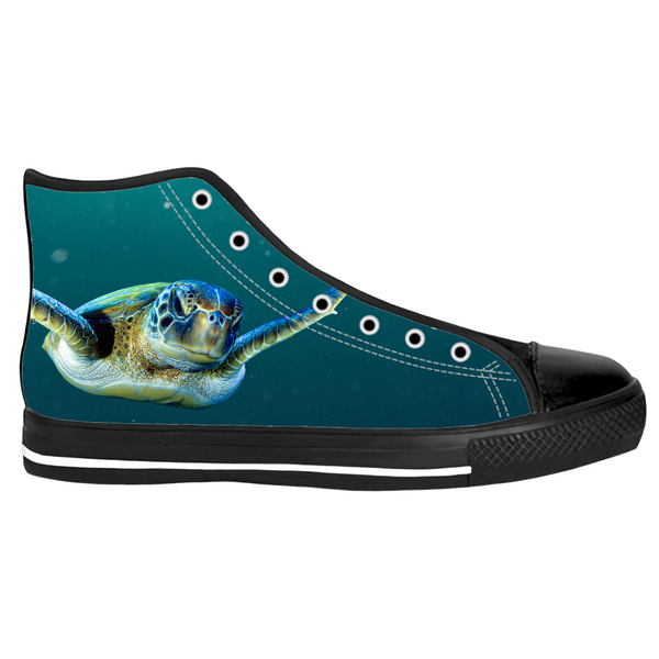 Swimming Turtle High Top Sneakers