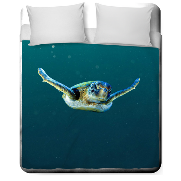 Swimming Turtle Duvet Covers