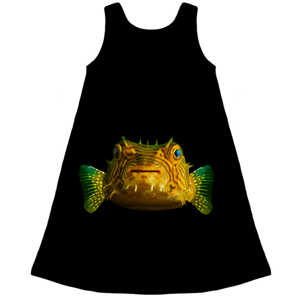 Porcupine Pufferfish Kid's Dress