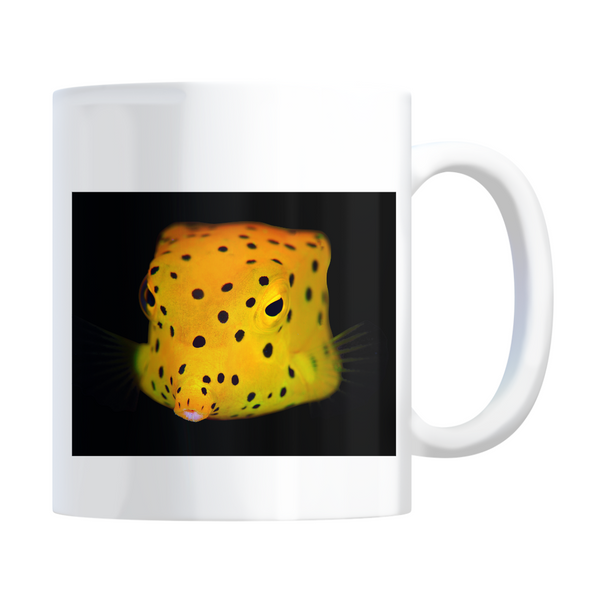 Yellow Spotted Box Fish Coffee Mugs