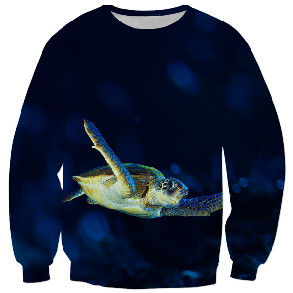 Dark Blue Turtle Kids Sweatshirt