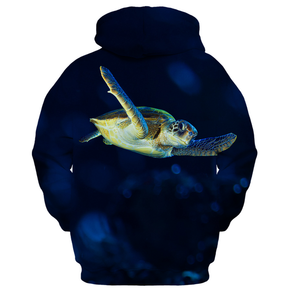 Dark Blue Turtle Kid's Zip up Hoodie