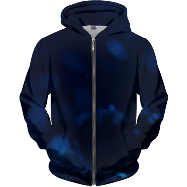 Dark Blue Turtle Men's Zip-up Hoodie