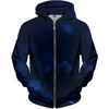 Dark Blue Turtle Women's Zip-up Hoodie