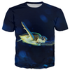 Dark Blue Turtle Kid's T-shirt