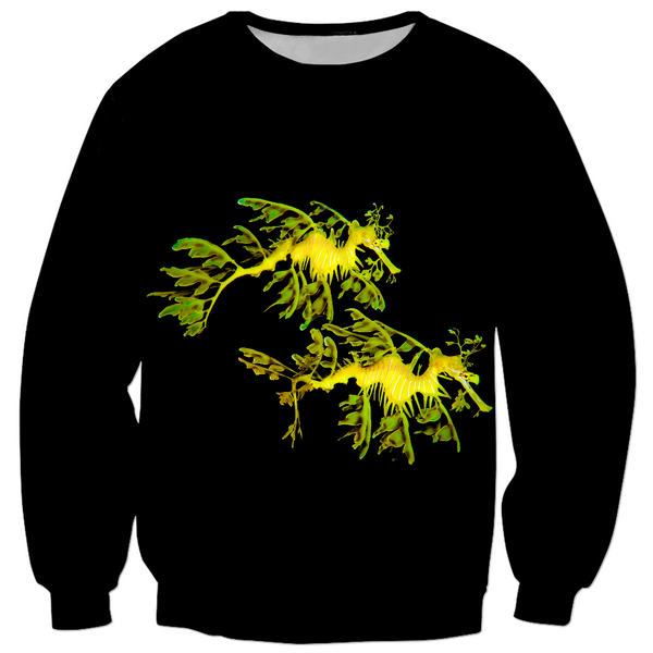 Leafy Sea Dragon Couple Kid's Sweatshirt
